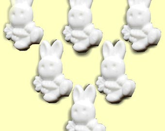 LOT 6 buttons: 19mm White Rabbit