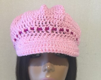 Newsboy Cap--with contrasting color ribbon
