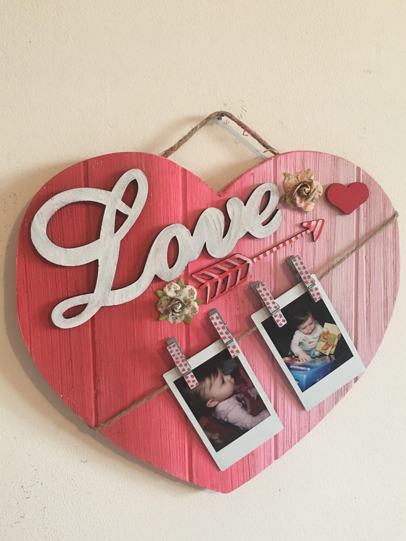 HEART PALLET FRAME Valentine\'s Day heart shaped frame romantic gift ...