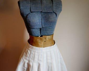 FREE SHIPPING - Small / Size 6 - Cute Mini Skirt