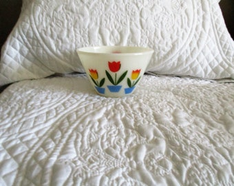 Vintage Fire King Tulip Bowl 7 inch Diameter