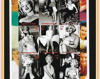 Marilyn Monroe Collage SS Stamp