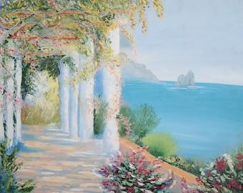 Seascape landscape oil painting