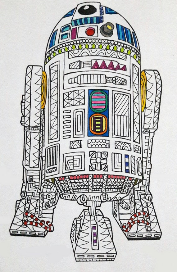 R2-D2 Star Wars Coloring Page Star Wars Coloring page