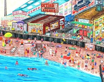 Sunday at Brighton Beach--Coney Island