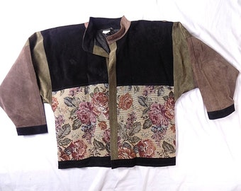 DA CAVANNA floral jacket VINTAGE france Women's L?(see measurements) #+J24