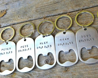 Gifts For Him Under 25, Gifts For Men, Hand Stamped Bottle Openers, Personalized Gifts For Him, Gifts For Dad, Boyfriend Gift, Nata
