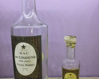 Set of 2 bottles of Cologne T & G