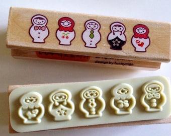 Stamp matryoshka matryoshka Russian doll