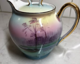 Vintage Nippon Creamer with Asian Scene