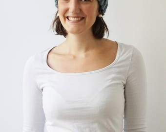 Headband SARAH in Lead | Knit Earwarmer | Chunky Knit