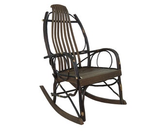 Barnwood U0026 Hickory Amish Bentwood Rocking Chair