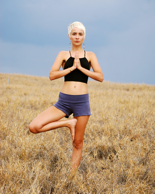 Beute Shorts Yoga Shorts grau Eco-Friendly Jersey