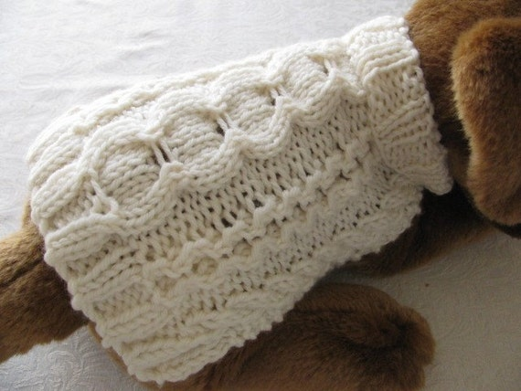 Dog Sweater Knitting Pattern Aran Stepping Stones Design For