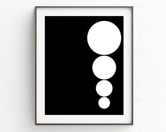 Black Wall Art Decor, Abstract Art, Geometric Print, Minimalist, Geometric Art, Geometric Wall Art, Scandinavian Print, Wall Decor, Gifts