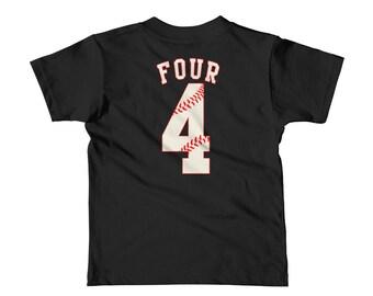 Four baseball kid shirt - kid shirt - baseball - baseball shirt - baseball design - baseball tee - baseball outfit - baseball player