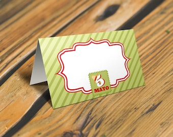 Cinco de Mayo Place Cards or Food Tent Cards with Sign. Mexican Fiesta Tent Cards and Party Sign. Set #3 *INSTANT DOWNLOAD*