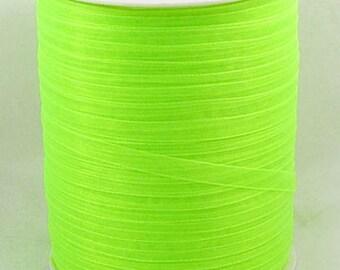10 m width 6 mm Apple green organza Ribbon