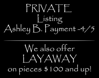 Layaway Payment Ashley B. #4 - Black and white diamond ring, Sterling Setting, .5ct Ring
