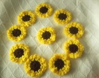 10 Crochet Sunflowers