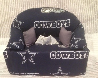 Tissue Box Couch Cover Cowboys