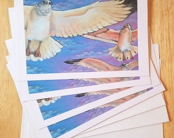 "Seagulls Flight Note Card Set 5"" x 7"""