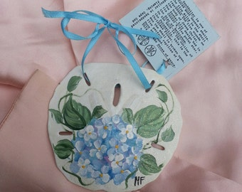 handpainted sandollar,handpainted, sandollar, hydragena, crafts, shabby chic, ornament