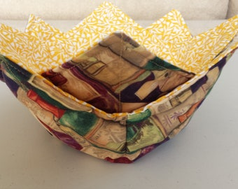 Quilted Patchwork Microwavable Bowl Holders-Set of 2