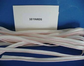 5 Yards Vintage 1/4 Inch  Pink Nylon Piping
