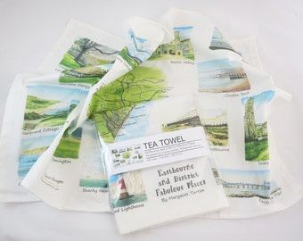 Eastbourne and District Fabulous Places Tea Towel