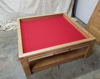 Large game coffee table.