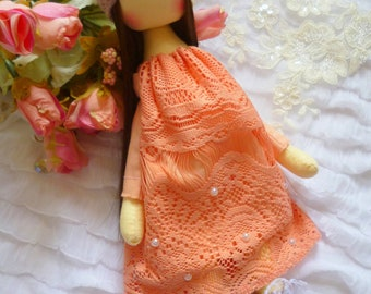 Princess doll, Fabric Doll, Cute doll, Textile doll, Soft toy, Cloth doll, Gift Idea, Rag Doll, Handmade Doll, Tilda doll, baby doll, dolls
