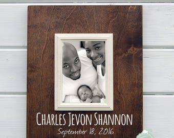 New Baby Gift - Custom New Baby Frame - 8X10 Personalized Frame New Mom, Newborn
