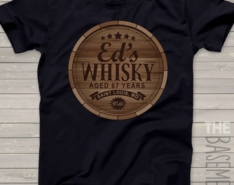 personalized whisky barrel shirt - great father's day gift for the whisky drinker gift whisky drinker shirt - FRONT only