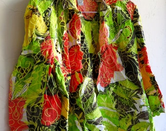 The Neon Green and Orange Floral Cut-Out Jacket