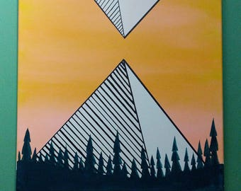 Yellow pyramids 16x20