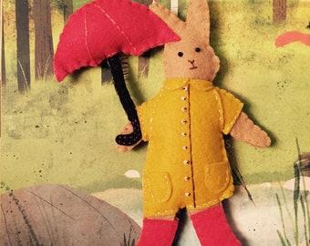 Bunny Rabbit Ornament Easter Springtime raincoat