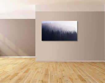 Misty Foggy forest canvas print