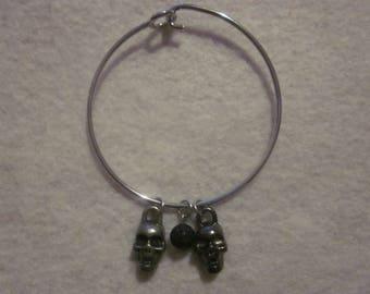 Skull Bangle Bracelet