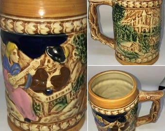 Heidelberg Schloss Vintage Bavarian Style Beer Mug Made in Japan