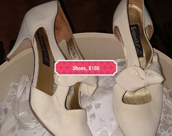 Vintage Kenneth Cole wedding shoes...1992...worn once...in good condition