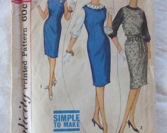 vintage SIMPLICITY- Juniors and Misses Jumper & Blouse (4605, size small) sewing pattern 1960s
