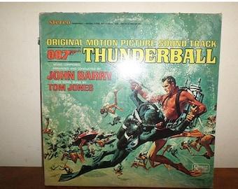 Vintage 1965 Vinyl LP Record 007 Thunderball Original Motion Picture Sound Track Excellent Condition 12032