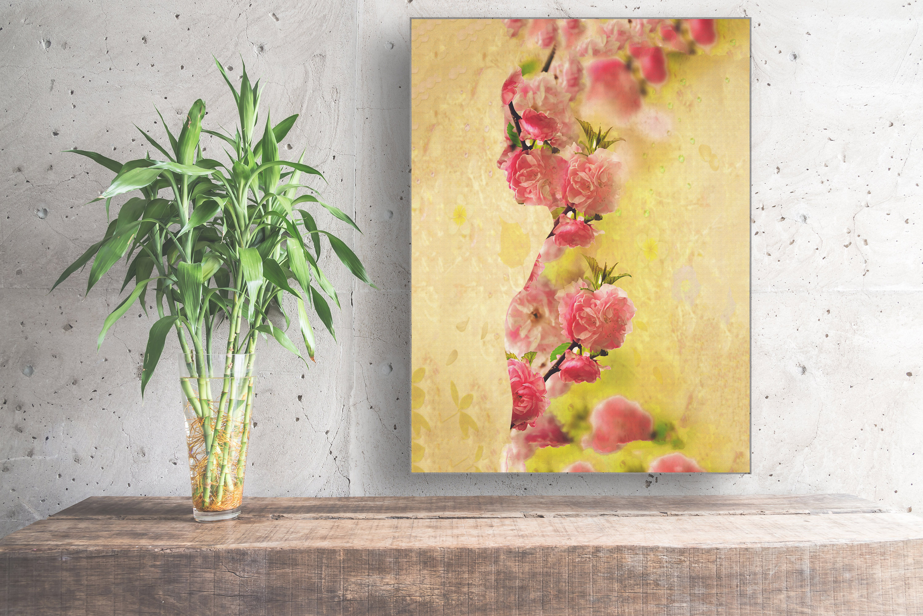 Pink Wall Art Large Ready to hang Stretched Canvas wall art