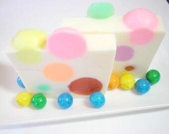 Bubble Gum Soap,  Soap for Children, Rainbow Soap, Goats Milk Soap,  Kids Party Favor Soap, Childrens Soap, Novelty Soap