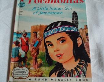 Pocahontas A Little Indian Girl of Jamestown A Rand McNally Elf Book 1957