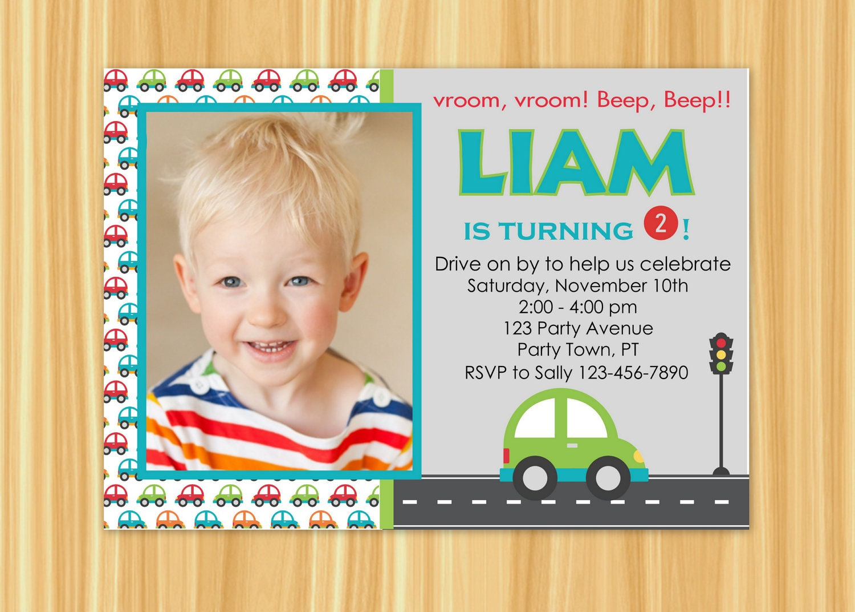 Car Invitation Car Birthday Invitation Car Birthday Party