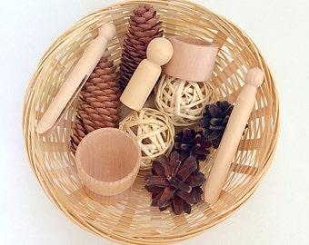 Treasure Basket, Natural & Wooden Products, Montessori, Waldorf Inspired, Educational, Natural Classroom Resource, Teaching Aid