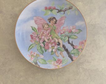 Collectable Apple Blossom Fairy Plate Heinrich Villeroy Boch Germany Numbered