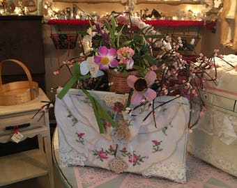 A Vintage Purse Repurposed into a French Country Table Accent piece